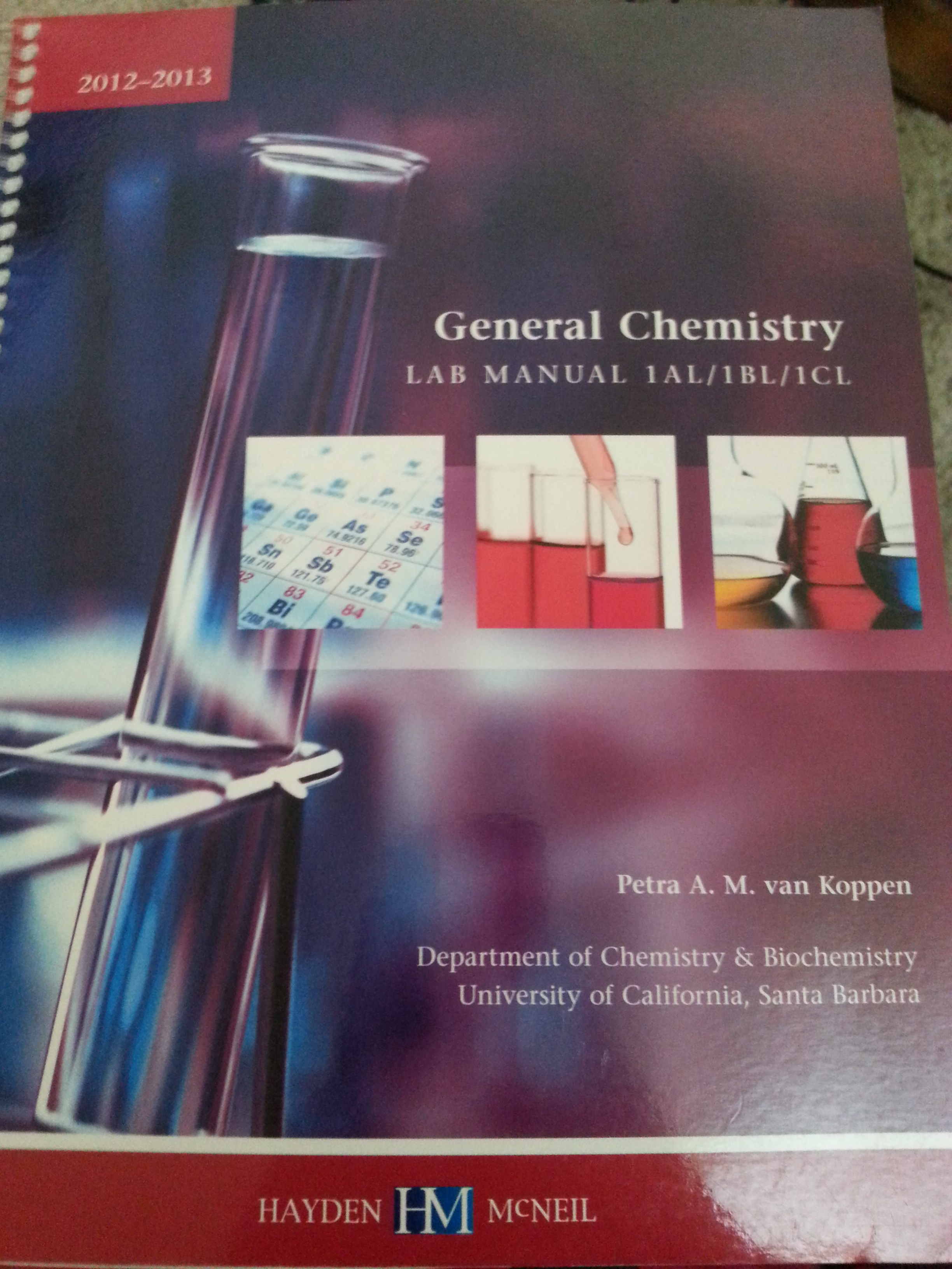 General Chemistry Lab Manual 1AL/1BL/1CL | Gaucho Books