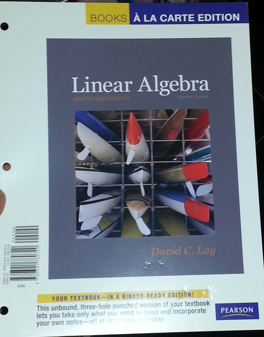 linear algebra david lay For the course linear algebra (lineaire algebra) there are lectures  we will  follow closely parts of the book linear algebra and its applications by david lay.